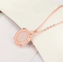 Load image into Gallery viewer, Rose Gold Lucky Pig Necklace
