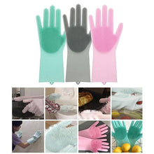 Load image into Gallery viewer, Silicone Scrubber Bristly Gloves