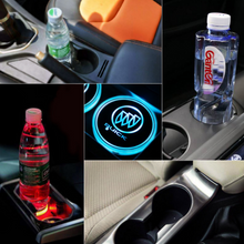 Load image into Gallery viewer, Led Car Logo Cup Lights up Holder USB Charging 7 Colors Changing