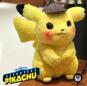 Realistic Life-Size Pikachu Detective Plush Toy