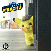 Load image into Gallery viewer, Realistic Life-Size Pikachu Detective Plush Toy
