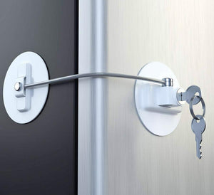 Refrigerator Key Lock Keeps Out Kids and Snackers