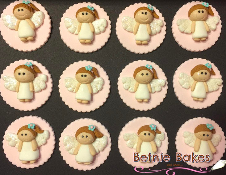 Angel cupcake toppers