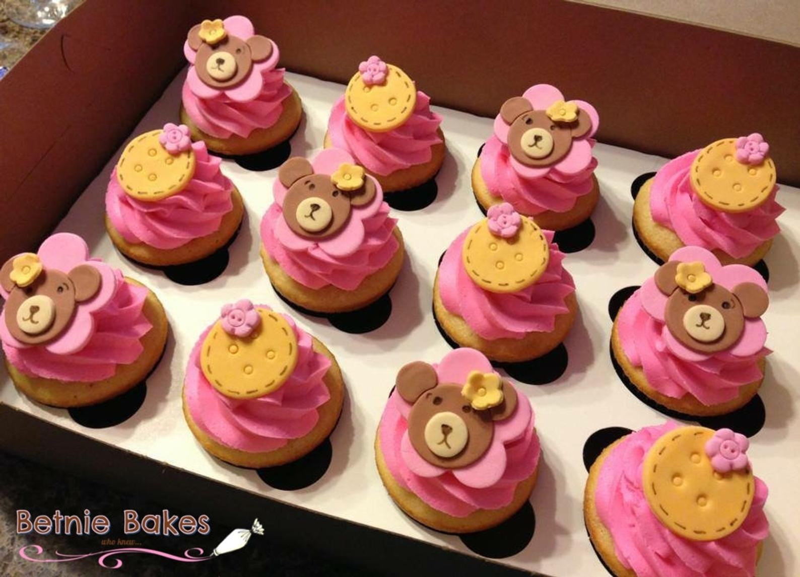 Teddy Bear Cupcake Toppers