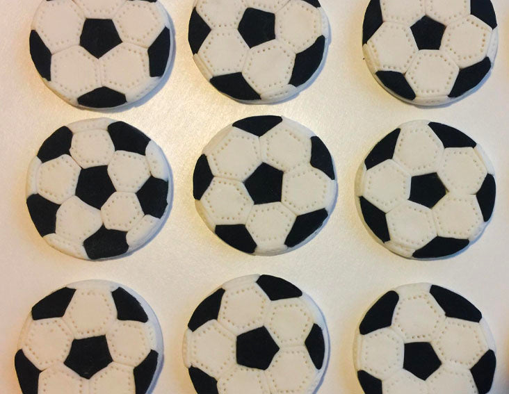 Soccer Ball Cupcake Toppers