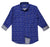 JDC Boy's Blue Printed Shirt