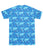 JDC Boy's Sea Blue Printed T-Shirt