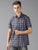 MEN'S BLACK GREY CHECK SLIM FIT SHIRT