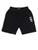 BOY'S BLACK SOLID REGUALR FIT KNIT SHORTS