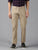 MEN'S KHAKI SOLID SLIM FIT TROUSER