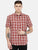 MEN'S BROWN CHECK SLIM FIT SHIRT
