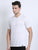JDC Men White Solid T.shirt