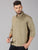 MEN'S OLIVE DOBBY SLIM FIT SHIRT