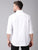MEN'S WHITE DOBBY SLIM FIT SHIRT