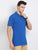 JDC Men's Blue Solid T.shirt