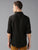 MEN'S BLACK LINEN SOLID SLIM FIT SHIRT