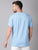 MEN'S BLUE SOLID SLIM FIT T.SHIRT