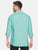 MEN'S MINT GREEN SOLID SLIM FIT LINEN SHIRT