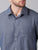 MEN'S GREY DOBBY SLIM FIT SHIRT