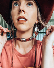 Load image into Gallery viewer, NEW Renegade Concho Tassel Earrings and Choker Full Set
