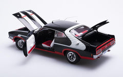 FORD XB FALCON HARDTOP MCLEOD FORD HORN CAR ONYX BLACK (COMPOSITE - OPENING PARTS)