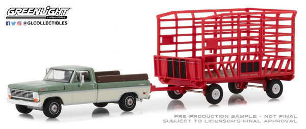 Ford F-100 Farm & Ranch Special (Long Bed) with Bale Throw Wagon