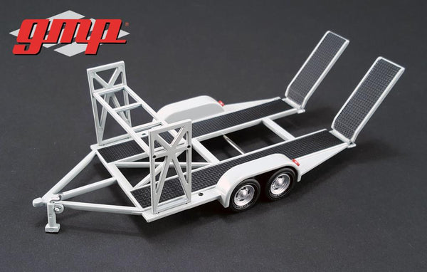 Tandem Car Trailer with Tire Rack