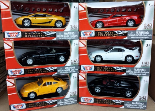 1/43 Scale Die Cast Cars Asst