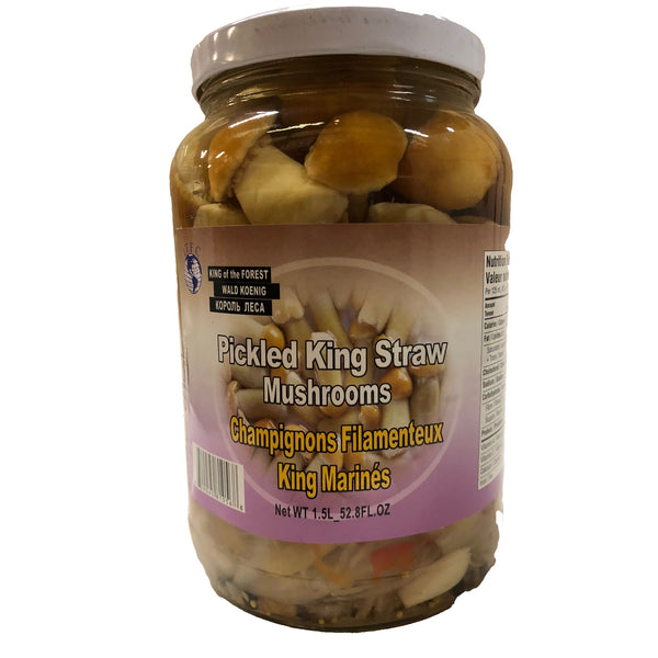 Pickled King Straw Mushrooms 1.5Ltr