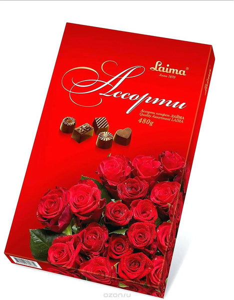 """Red Roses"" Sweets Assortment BOX 480g"