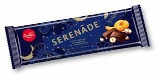 """SERENADE"" Dark Chocolate w/Apricots and Hazelnuts BAR 200g"