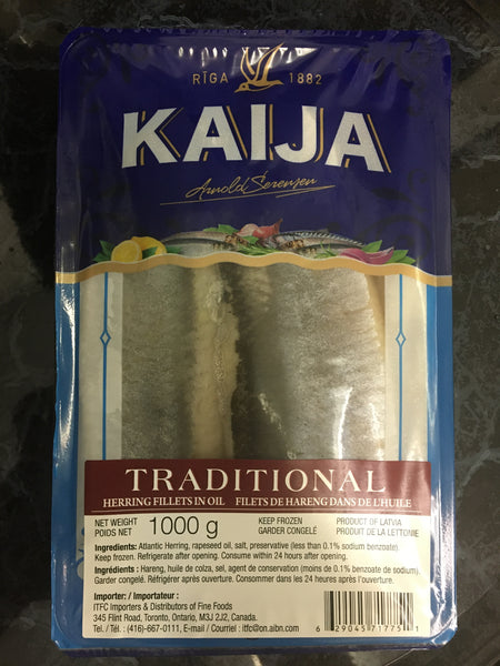 TRADITIONAL Herring Fillets in Oil 1kg