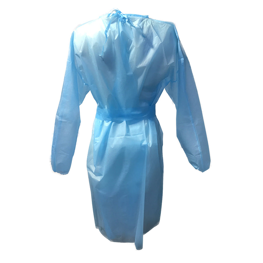 Image of the back of Disposable Isolation Gown AAMI Level 2