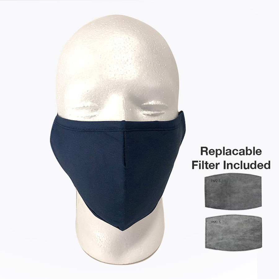 Washable Cotton Mask w/ Activated Carbon Filter Insert