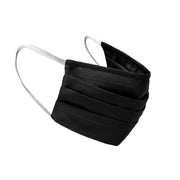 image of a black cotton reusable face mask