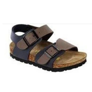 BIRKENSTOCK NEW YORK MOCCA / NAVY