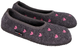 HAFLINGER SLIPPER CEUR ANTRACITE
