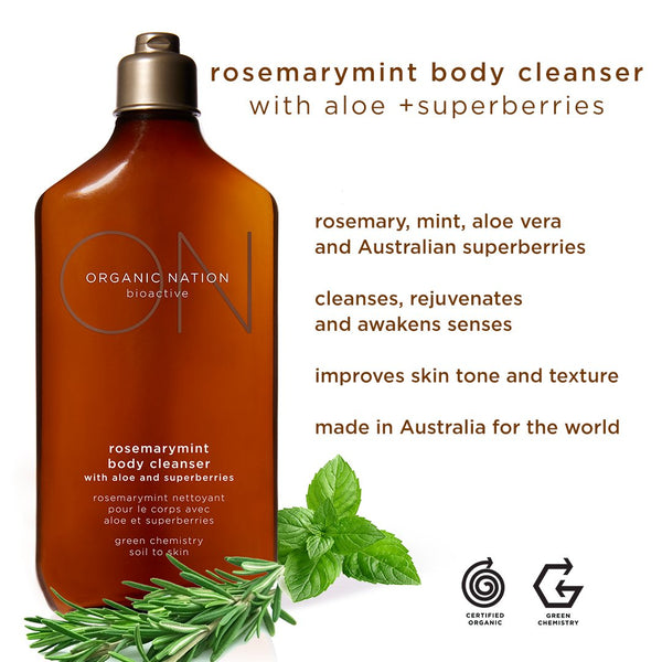 ROSEMARYMINT BODY CLEANSER WITH ALOE AND SUPERBERRIES