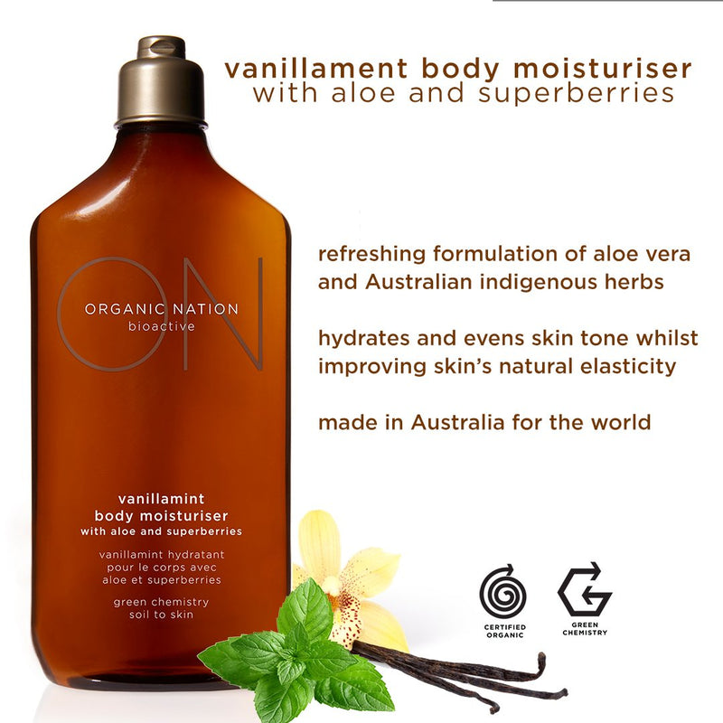 VANILLAMINT BODY MOISTURISER WITH ALOE AND SUPERBERRIES