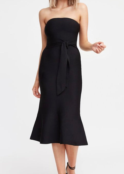 Florida Strapless Midi Dress