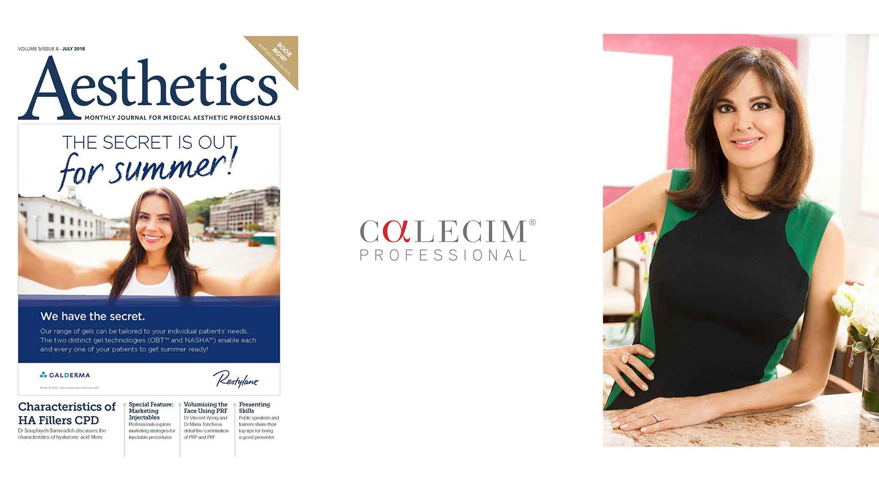 Spotlight on CALECIM® Professional. Published in Aesthetics Journal July 2018