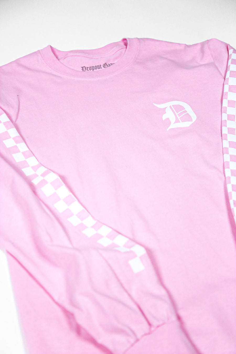 Checkered Light Pink Long Sleeve