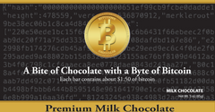 Front Bitcoin Chocolate Bar
