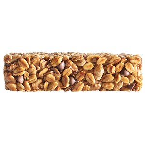 individual chocolate chip granola bar out of wrapper
