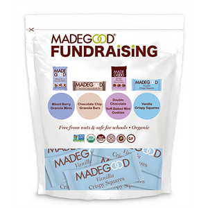 madegood fundraising bag full of individual vanilla crispy squares in wrapper