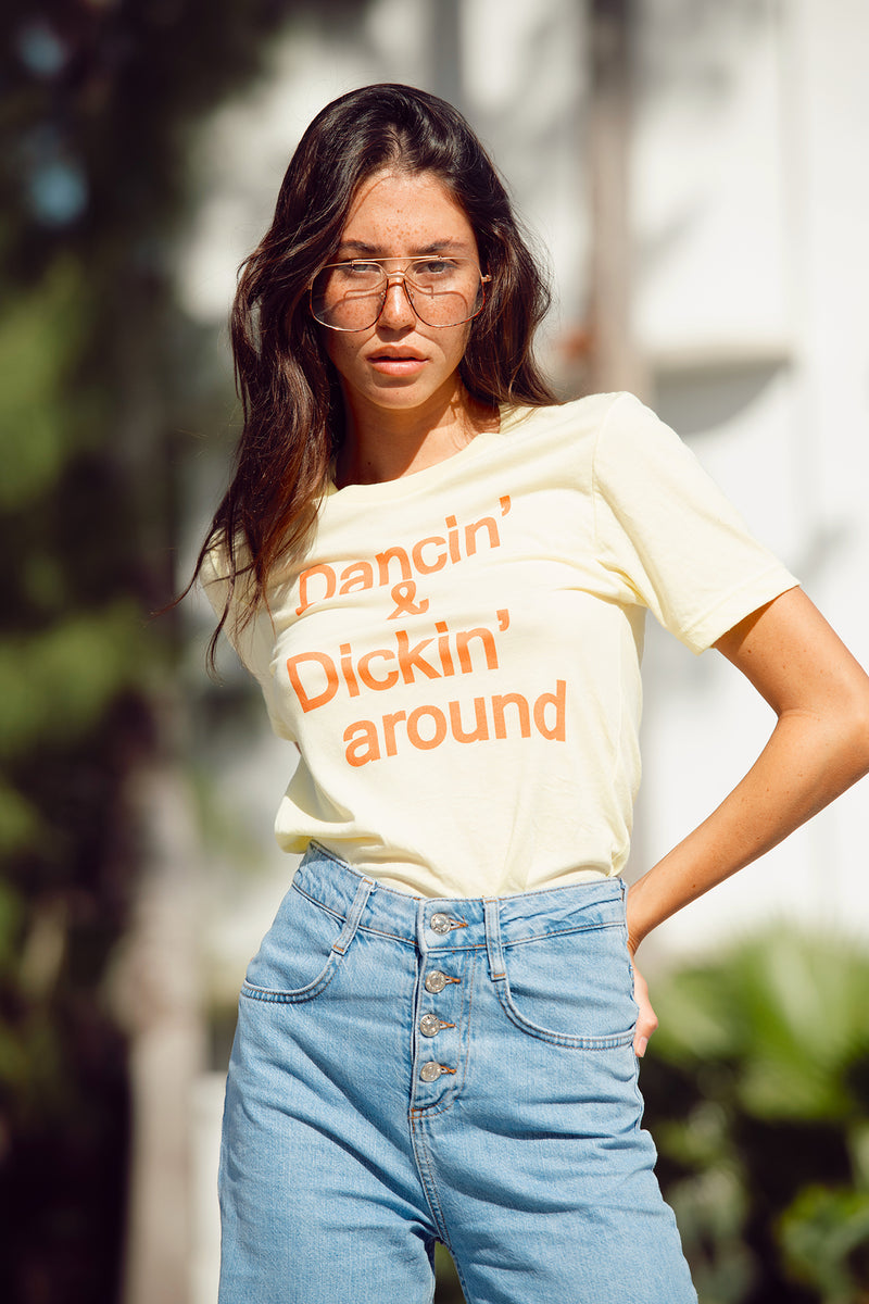 Dancin' and Dickin' Around women's vintage 70's tee