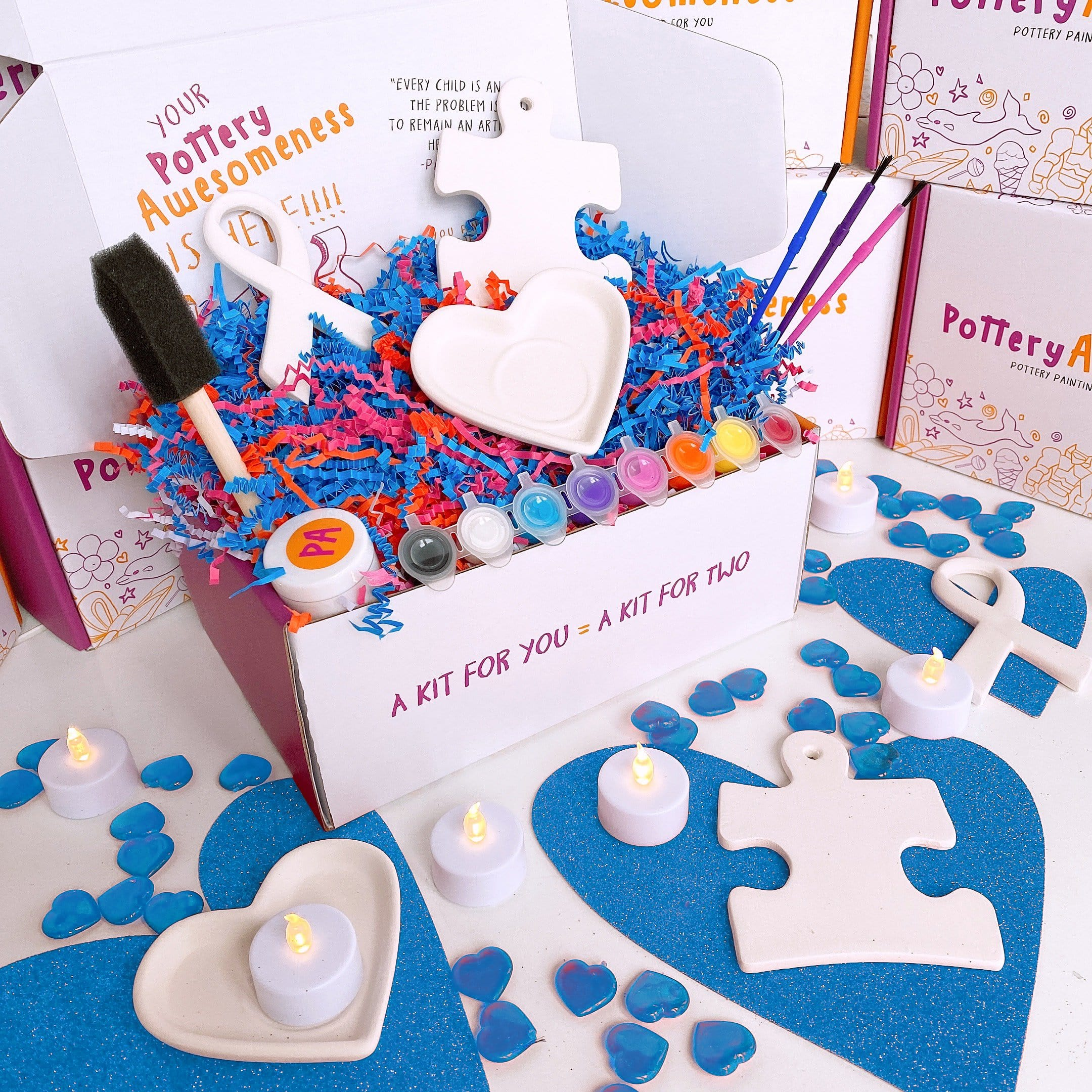 Light Up With Kindness Pottery Kit