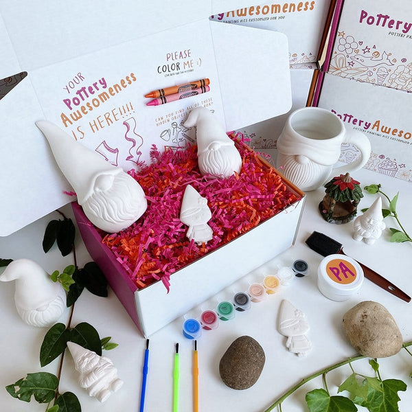 Contemporary Gnome Customized Pottery Painting Kit