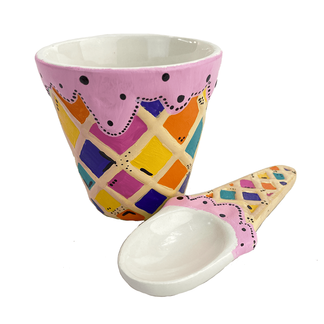 """I Scream Ice Cream"" Pottery Painting Kit"
