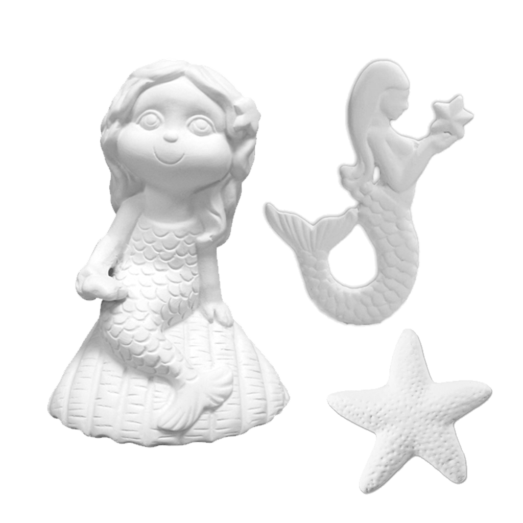 Mermaid Shelley Pottery Painting Kit